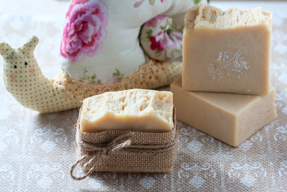 Homemade baby soap