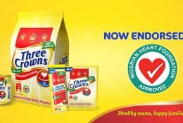 ThreeCrowns Milk heart foundation of Nigeria endorsement