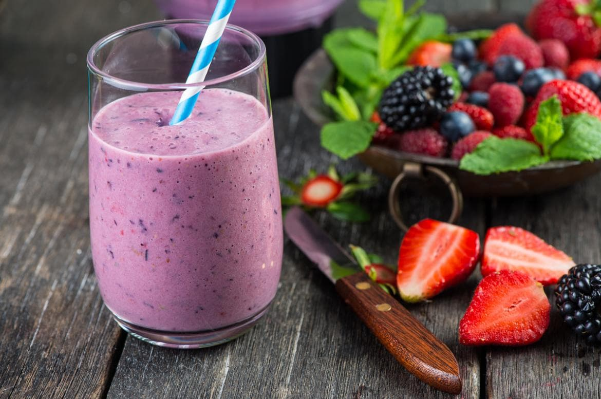 Berries smoothies