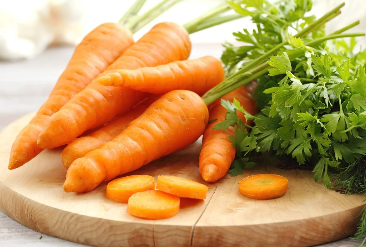 Carrots on plate